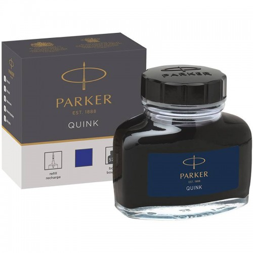 Темно-синие чернила во флаконе Parker (Паркер) Quink Bottle Blue/Black Ink в Самаре