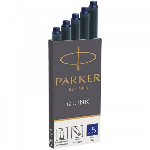 Синие картриджи Parker (Паркер) Quink Cartridges Blue 5шт в Самаре