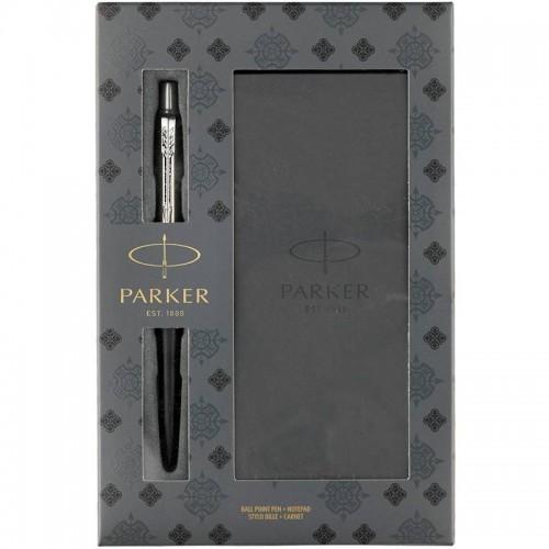 Подарочный набор из шариковой ручки Parker (Паркер) Jotter Core Bond Street Black CT и блокнота в Самаре