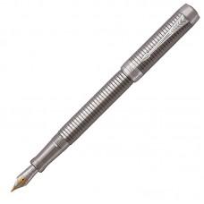 Перьевая ручка Parker (Паркер) Duofold Prestige Ruthenium Chiselled CT F