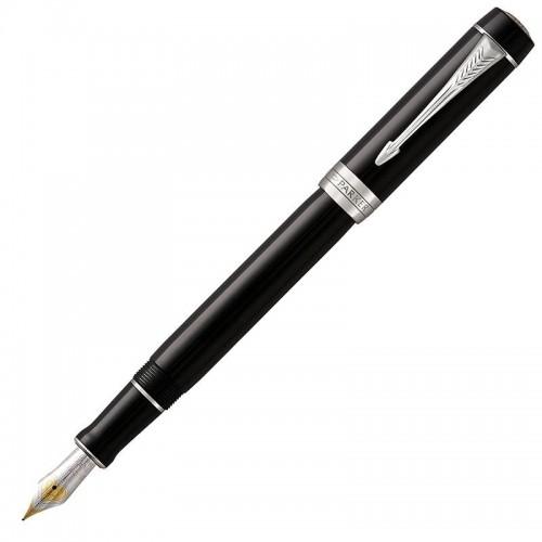Перьевая ручка Parker (Паркер) Duofold Centennial Classic Black CT F в Самаре