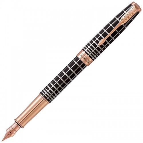 Перьевая ручка Parker (Паркер) Sonnet Premium Brown Rubber PGT F 18k в Самаре