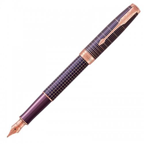 Перьевая ручка Parker (Паркер) Sonnet Luxury Purple Matrix PGT F в Самаре