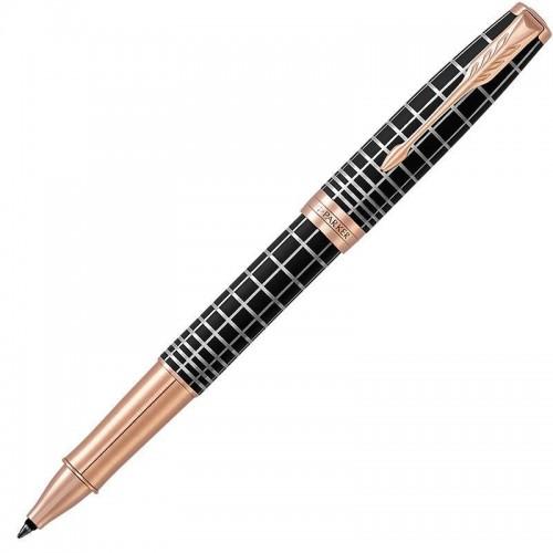 Ручка-роллер Parker (Паркер) Sonnet Premium Brown Rubber PGT в Самаре