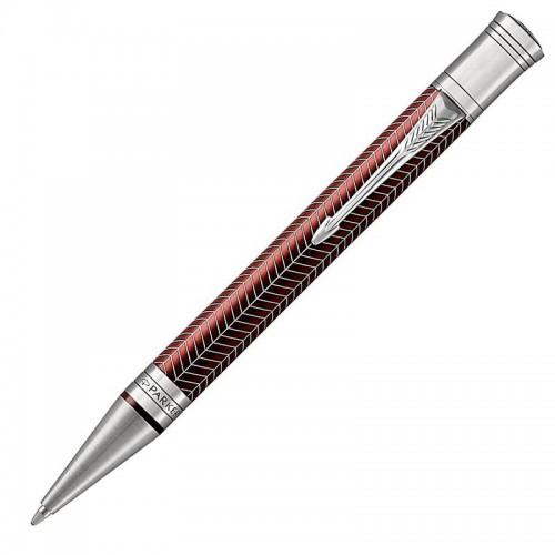 Шариковая ручка Parker (Паркер) Duofold Prestige Burgundy Chevron CT в Самаре