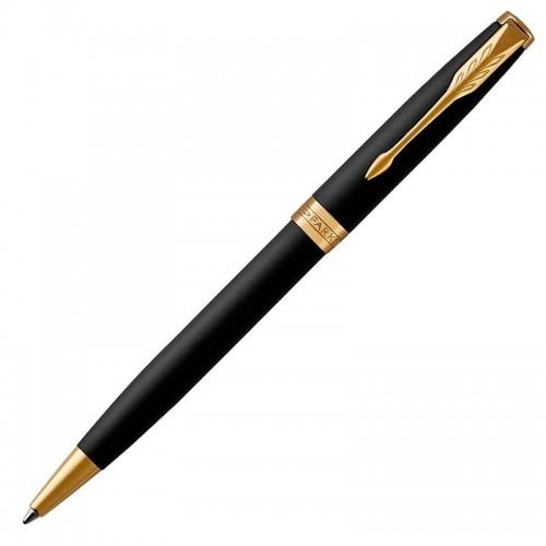 Шариковая ручка Parker (Паркер) Sonnet Core Matte Black Lacquer GT в Самаре