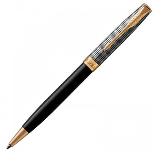 Шариковая ручка Parker (Паркер) Sonnet Premium Black Silver GT в Самаре