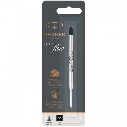 Чёрный шариковый стержень Parker Ball Pen Refill QuinkFlow Premium M Black в Самаре